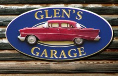 Glen's Garage House Sign