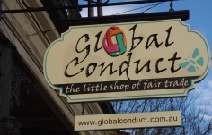 Global Conduct Business Sign