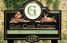 Goff Creek Pottery Retail Sign