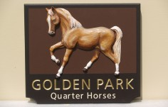 Golden Park Horse Farm Sign
