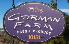 Gorman Farm Sign