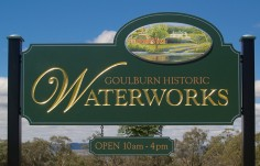 Goulburn Waterworks Park Sign
