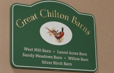 Great Chilton Barns Subdivision Sign