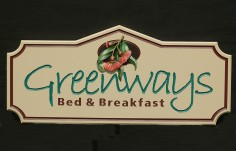 Greenways B & B Sign