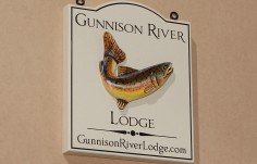 Gunnison River Lodge Sign