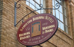 Hamilton Building Supply Sign On Site
