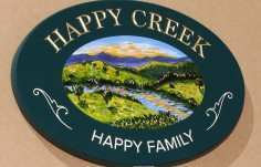Happy Creek Property Sign