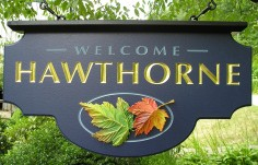 Hawthorne Welcome Sign