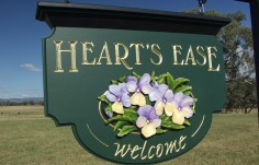 Heart's Ease Welcome Sign