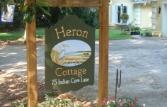 Heron Cottage Bird Sign