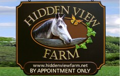 Hidden View Farm Horse Sign