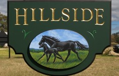 Hillside Horse Sign