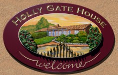 Hollygate House Welcome Sign