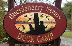 Huckleberry Farms Duck Camp Sign