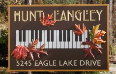 Hunt Langley Country Sign