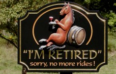 I'm Retired Horse Sign