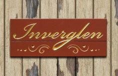 Inverglen House Name Sign