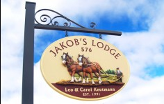 Jakob's Lodge Property Sign
