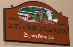 Jazzy Acres Alpaca Ranch Sign