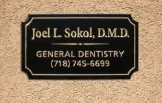 Joel L. Sokol, DMD Dental Office Sign
