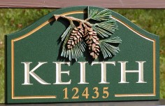 Keith Family Name Sign