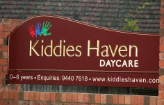 Kiddies' Haven Day Care Sign