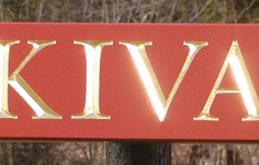Kiva Quarterboard Sign
