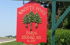 Knotty Pines Farm Sign