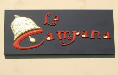 La Campana Spanish Restaurant Sign