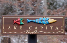 Lake Capital Fishing Sign