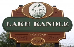 Lake Kandle Campground Sign