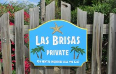 Las Brisas Villa Sign