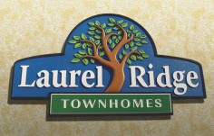 Laurel Ridge Townhomes Sign