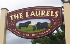 The Laurels Farm Animal Sign