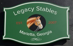 Legacy Stables Barn Sign
