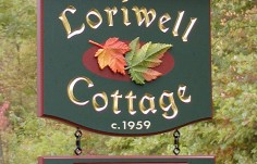 Loriwell Cottage Sign with subsigns