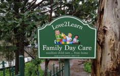 Love2Learn Family Day Care Sign