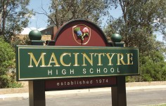 Macintyre High School Sign