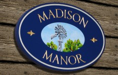 Madison Manor Property Sign | Danthonia Designs