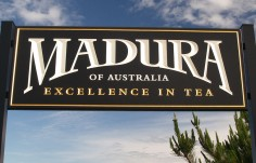 Madura Tea Company Sign