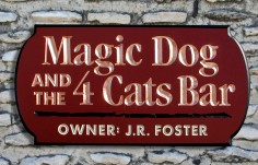Magic Dog Pub Sign