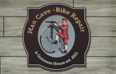 Man Cave Bike Repair House Sign | Danthonia Designs