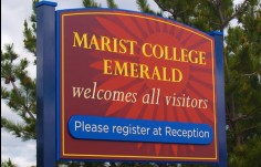 Marist College School Main Sign