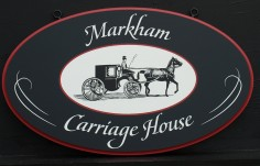 Markham Carriage House Sign