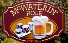 McWaterin' Hole Bar Sign