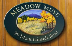 Meadow Muse House Name Sign