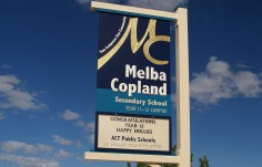 Melba Copland School Welcome Sign