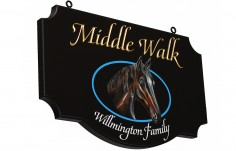 Middle Walk Horse Farm Sign