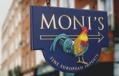 Moni's European Imports Retail Sign | Danthonia Designs