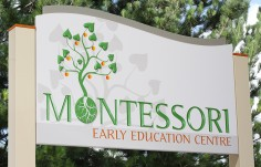 Montessori Early Education Sign